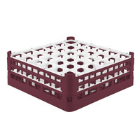 Vollrath 52715 Signature Full-Size Burgundy 36-Compartment 5 11/16 inch Tall Glass Rack