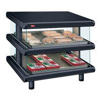 Hatco GR2SDS-48D Black Glo-Ray Designer 48 inch Slanted Double Shelf Merchandiser
