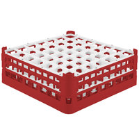 Vollrath 52723 Signature Full-Size Red 49-Compartment 5 11/16 inch Tall Glass Rack