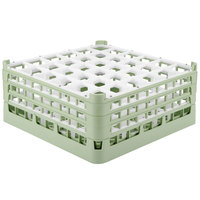 Vollrath 52716 Signature Full-Size Light Green 36-Compartment 7 1/8 inch X-Tall Glass Rack