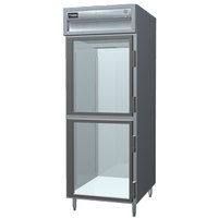Delfield SSRPT1-GH 26.64 Cu. Ft. One Section Glass Half Door Pass-Through Refrigerator - Specification Line