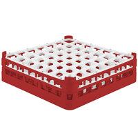 Vollrath 52722 Signature Full-Size Red 49-Compartment 4 5/16 inch Medium Glass Rack