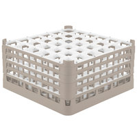 Vollrath 52717 Signature Full-Size Beige 36-Compartment 8 1/2 inch XX-Tall Glass Rack
