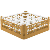 Vollrath 52719 Signature Full-Size Gold 16-Compartment 5 11/16 inch Tall Glass Rack