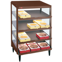 Hatco GRPWS-2418Q Antique Copper Glo-Ray 24 inch Quadruple Shelf Pizza Warmer - 120/208V, 1920W
