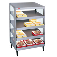 Hatco GRPWS-2418Q Granite White Glo-Ray 24 inch Quadruple Shelf Pizza Warmer - 1920W