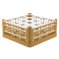 Vollrath 52720 Signature Full-Size Gold 16-Compartment 7 1/8 inch X-Tall Glass Rack