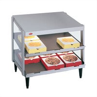 Hatco GRPWS-2418D White Granite Glo-Ray 24 inch Double Shelf Pizza Warmer - 960W