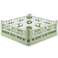 Vollrath 52728 Signature Full-Size Light Green 9-Compartment 5 11/16 inch Tall Glass Rack