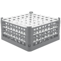 Vollrath 52725 Signature Full-Size Gray 49-Compartment 8 1/2 inch XX-Tall Glass Rack