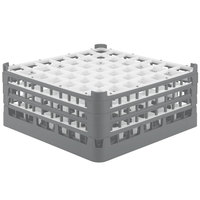 Vollrath 52724 Signature Full-Size Gray 49-Compartment 7 1/8 inch X-Tall Glass Rack