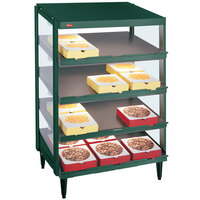 Hatco GRPWS-2418Q Hunter Green Glo-Ray 24 inch Quadruple Shelf Pizza Warmer - 1920W