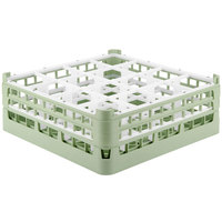 Vollrath 52719 Signature Full-Size Light Green 16-Compartment 5 11/16 inch Tall Glass Rack