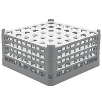 Vollrath 52717 Signature Full-Size Gray 36-Compartment 8 1/2 inch XX-Tall Glass Rack