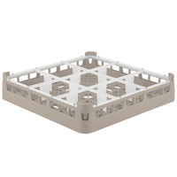 Vollrath 52726 Signature Full-Size Beige 9-Compartment 2 13/16 inch Short Glass Rack
