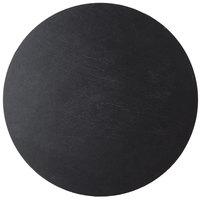 Cal-Mil 1523-15-65 Black 15 inch Round Slate Serving/Display Stone