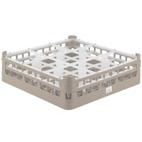 Vollrath 52727 Signature Full-Size Beige 9-Compartment 4 5/16 inch Medium Glass Rack