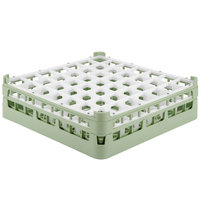 Vollrath 52722 Signature Full-Size Light Green 49-Compartment 4 5/16 inch Medium Glass Rack