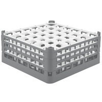 Vollrath 52716 Signature Full-Size Gray 36-Compartment 7 1/8 inch X-Tall Glass Rack