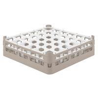 Vollrath 52714 Signature Full-Size Beige 36-Compartment 4 5/16 inch Medium Glass Rack