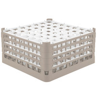 Vollrath 52725 Signature Full-Size Beige 49-Compartment 8 1/2 inch XX-Tall Glass Rack