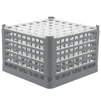 Vollrath 52740 Signature Full-Size Gray 49-Compartment 11 3/8 inch XXXX-Tall Glass Rack