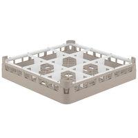 Vollrath 5276022 Signature Full-Size Beige 9-Compartment 3 1/4 inch Short Plus Glass Rack