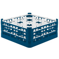 Vollrath 52730 Signature Full-Size Royal Blue 9-Compartment 7 1/8 inch X-Tall Glass Rack