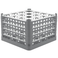 Vollrath 52737 Signature Full-Size Gray 16-Compartment 11 3/8 inch XXXX-Tall Glass Rack