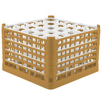 Vollrath 52738 Signature Full-Size Gold 25-Compartment 11 3/8 inch XXXX-Tall Glass Rack