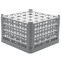 Vollrath 52738 Signature Full-Size Gray 25-Compartment 11 3/8 inch XXXX-Tall Glass Rack