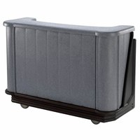 Cambro BAR650DX420 Granite Gray and Black Cambar 67 inch Portable Bar with 7-Bottle Speed Rail, Cold Plate, and Pre-Mix System