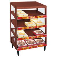 Hatco GRPWS-3618Q Antique Copper Glo-Ray 36 inch Quadruple Shelf Pizza Warmer - 120/240V, 2880W