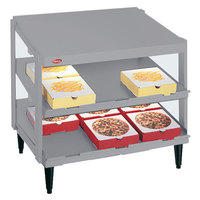Hatco GRPWS-2424D Granite White Glo-Ray 24 inch Double Shelf Pizza Warmer - 1200W
