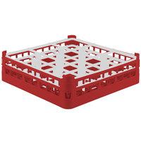 Vollrath 52761 Signature Full-Size Red 9-Compartment 4 13/16 inch Medium Plus Glass Rack
