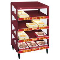 Hatco GRPWS-3624Q Wine Red Glo-Ray 36 inch Quadruple Shelf Pizza Warmer - 120/240V, 3600W