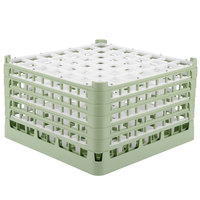 Vollrath 52735 Signature Full-Size Light Green 49-Compartment 9 15/16 inch XXX-Tall Glass Rack
