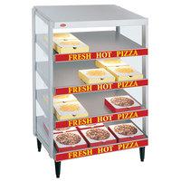 Hatco GRPWS-3624Q Granite White Glo-Ray 36 inch Quadruple Shelf Pizza Warmer - 120/208V, 3600W
