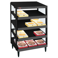 Hatco GRPWS-2424Q Black Glo-Ray 24 inch Quadruple Shelf Pizza Warmer - 120/208V, 2400W