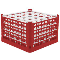 Vollrath 52738 Signature Full-Size Red 25-Compartment 11 3/8 inch XXXX-Tall Glass Rack