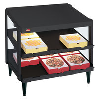 Hatco GRPWS-3624D Black Glo-Ray 36 inch Double Shelf Pizza Warmer - 1800W