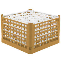 Vollrath 52757 Signature Lemon Drop Full-Size Gold 20-Compartment 11 3/8 inch XXXX-Tall Glass Rack