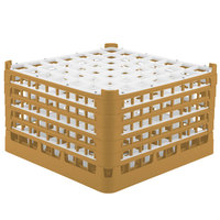 Vollrath 52735 Signature Full-Size Gold 49-Compartment 9 15/16 inch XXX-Tall Glass Rack