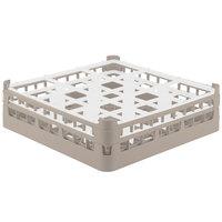Vollrath 52761 Signature Full-Size Beige 9-Compartment 4 13/16 inch Medium Plus Glass Rack