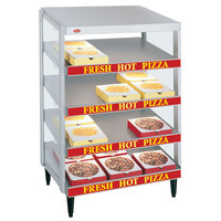 Hatco GRPWS-3624Q Granite White Glo-Ray 36 inch Quadruple Shelf Pizza Warmer - 3600W