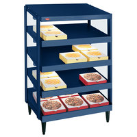 Hatco GRPWS-2424Q Navy Blue Glo-Ray 24 inch Quadruple Shelf Pizza Warmer - 120/208V, 2400W