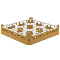 Vollrath 5276055 Signature Full-Size Gold 9-Compartment 3 1/4 inch Short Plus Glass Rack