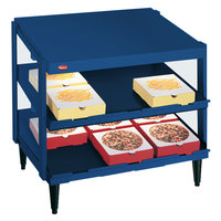 Hatco GRPWS-3618D Navy Blue Glo-Ray 36 inch Double Shelf Pizza Warmer - 1440W