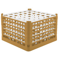 Vollrath 52739 Signature Full-Size Gold 36-Compartment 11 3/8 inch XXXX-Tall Glass Rack
