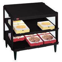 Hatco GRPWS-2424D Black Glo-Ray 24 inch Double Shelf Pizza Warmer - 1200W